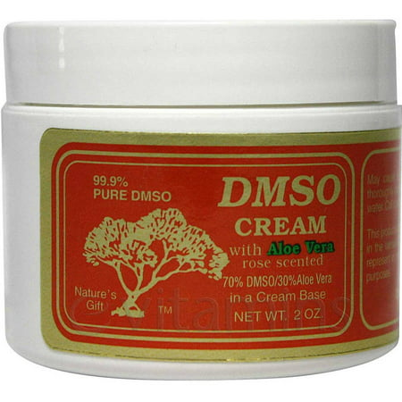 DMSO Cream 70% DSMO, 30% Aloe Vera, Rose Scented, 2 OZ
