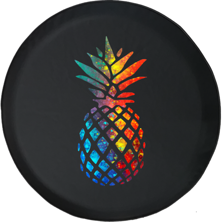 Multicolor Pineapple Fuirt Offroad Adventure 4x4 Spare Tire Cover fits Jeep RV & More 28 Inch (Spare Tire Cover 4x4)