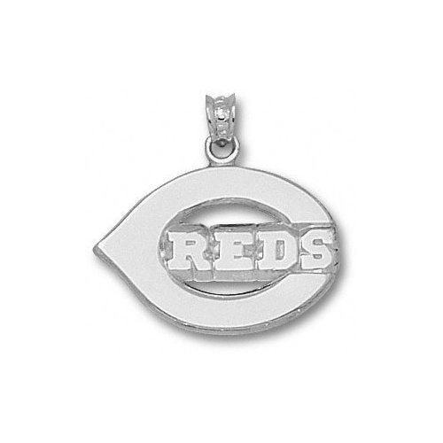 MLB - Cincinnati Reds 5/8'' Sterling Silver ''C REDS'' Polished Pendant
