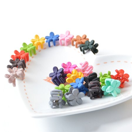 50Pcs Mini Hair Clip, Aniwon Flower Hair Clawss Barrette Pins Bows Accessories for Baby Girls Kids