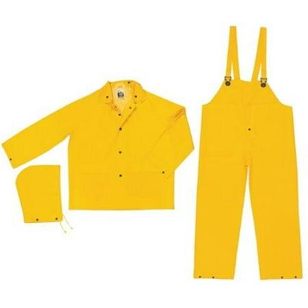 River City 611-FR2003L Classic .35Mm Pvc-Poly Flame Resist Suit 3 Pc Yw - Spandex Suit Party City