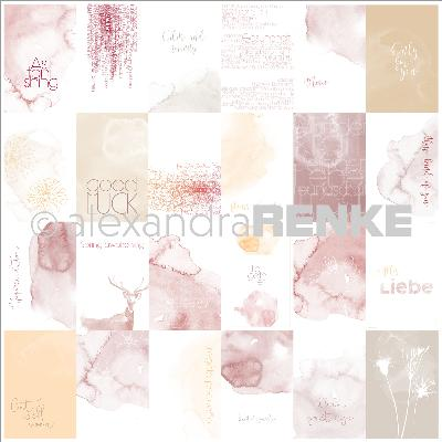 "Alexandra Renke Magic Flowers Design Paper 12""X12""-Wishes Aquarelle Cards"