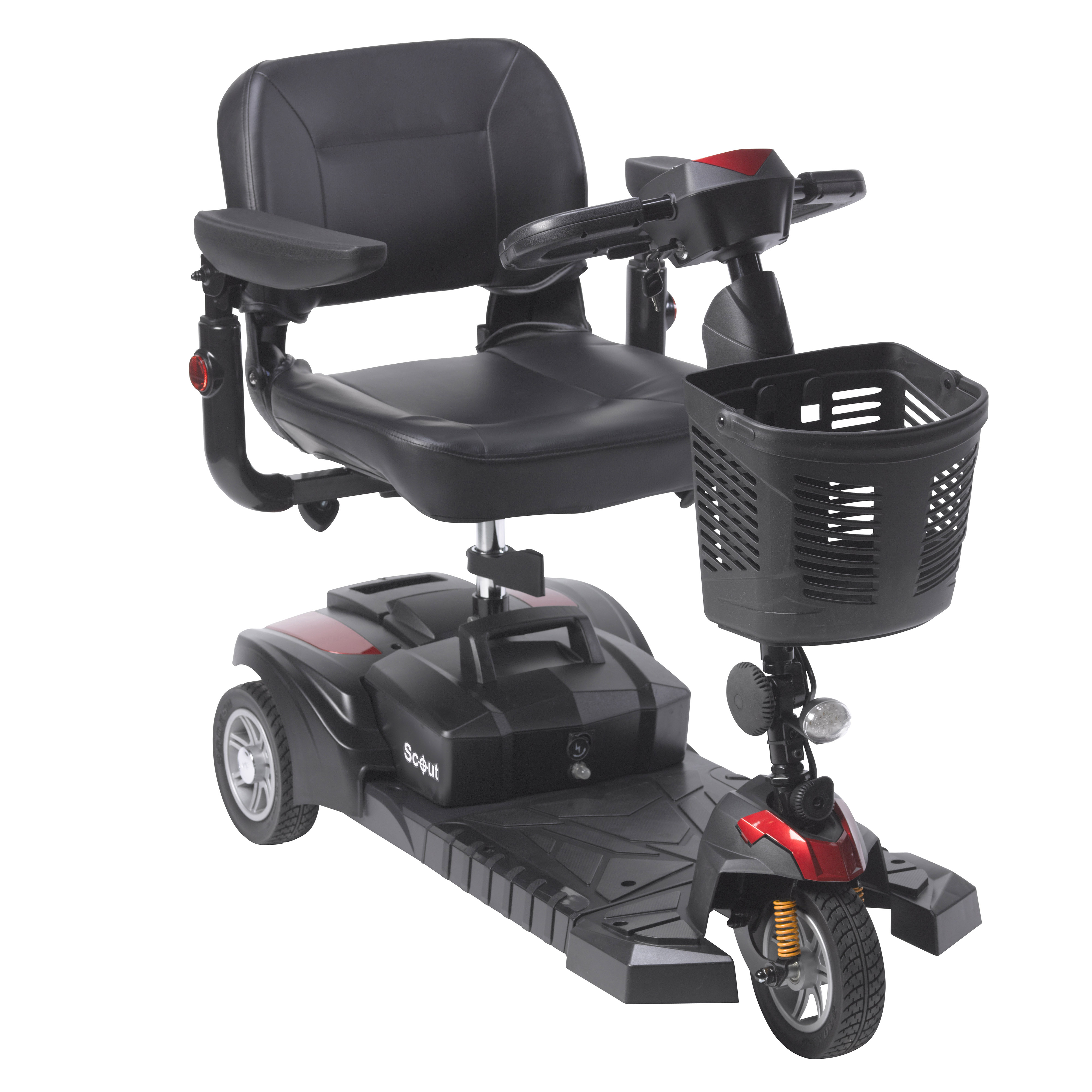 Drive Medical Scout DST 3-Wheel Travel Scooter with Peace of Mind Protection Included