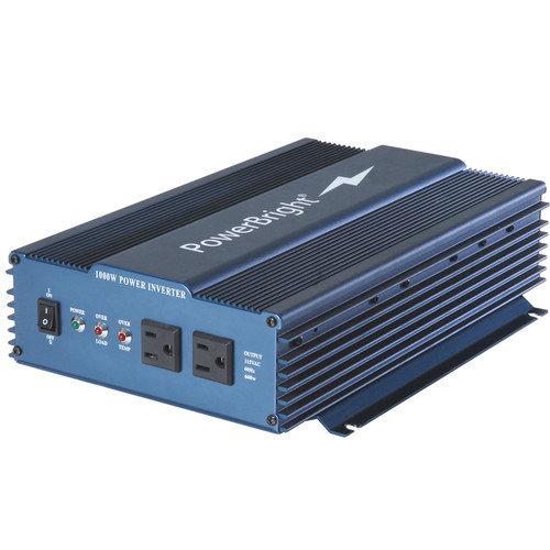 Power Bright 12V DC to 110V AC Pure Sine 1000W Power Inverter