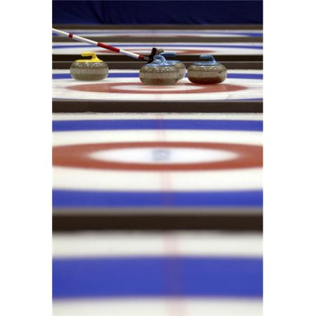 Curling Rocks On Ice Poster Print, 24 x 34 - Large