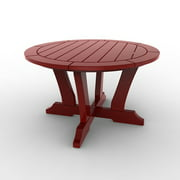 Round Conversation Table by Malibu Outdoor - Laguna, Red - 30''