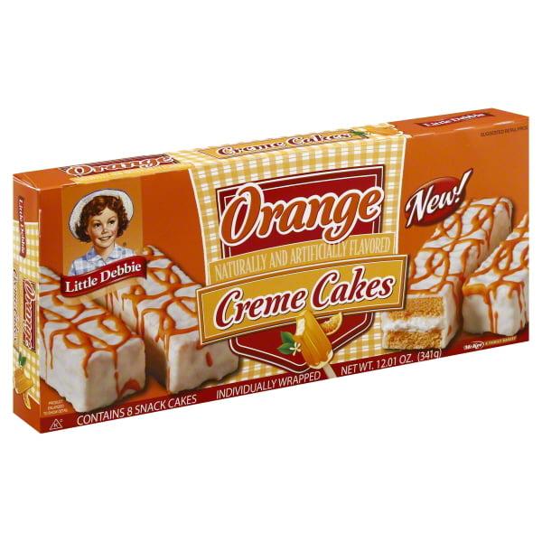 Little Debbie Family Pack Orange Creme Cakes Snack Cakes, 12.01 oz