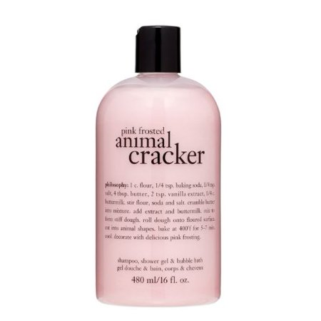 Philosophy Pink Frosted Animal Cracker Shampoo, Shower Gel & Bubble Bath, 16 Fl (Philosophy The Fragrance Bubble Bath)
