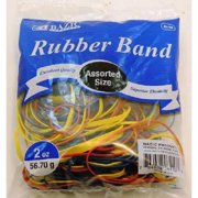 Rubber Band Assorted Sizes/Colors 2 Oz - 1 count only