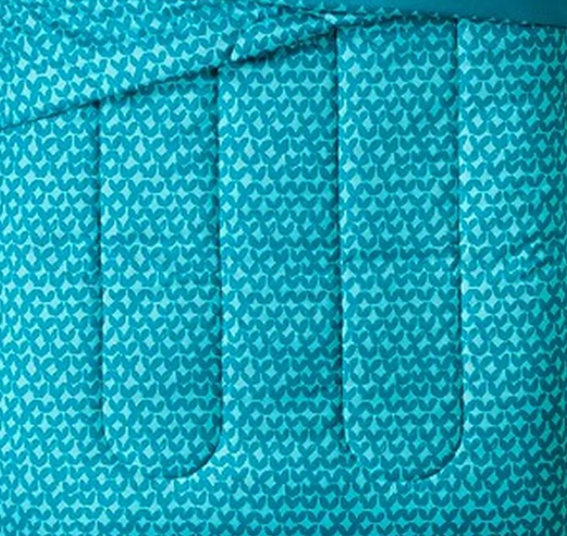 Geometric Twin XL Turquoise Petal Reversible Comforter Dorm Bed