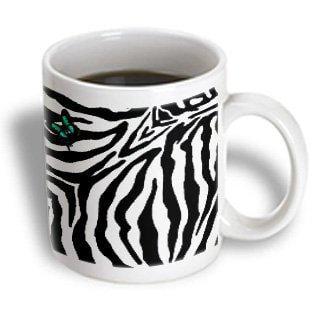 3dRose Butterfly Zebra Print, Ceramic Mug, 11-ounce - Ceramic Butterfly