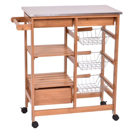 Island Trolley Kitchen Gymax bamboo rolling kitchen island trolley cart storage shelf gymax bamboo rolling kitchen island trolley cart storage shelf drawers workwithnaturefo