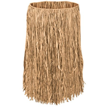 Club Pack of 12 Tropical Tan Child Sized Raffia Hula Skirts 22