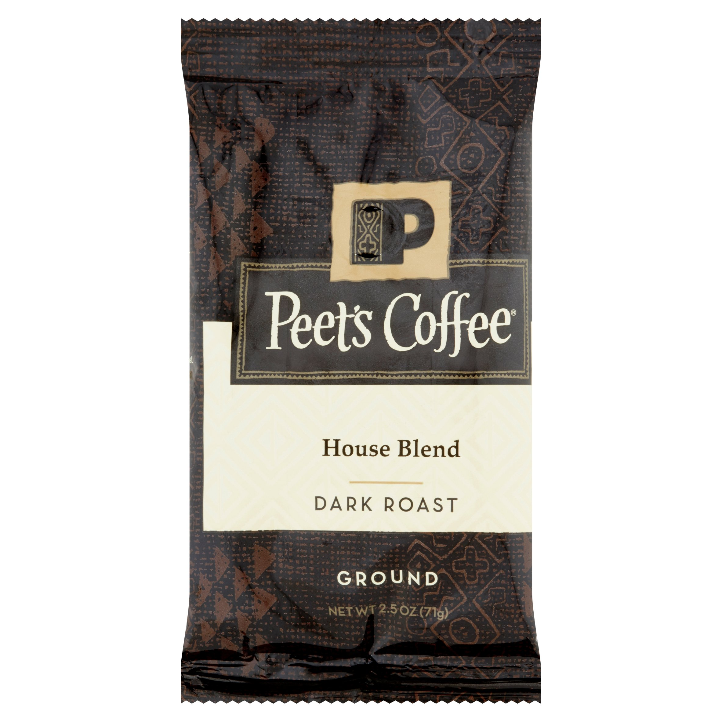 Peet's Coffee House Blend Dark Roast Ground Coffee Portion Packs, 18ct, 2.5 oz bags