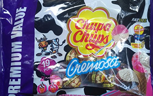 Chupa Chups Cremosa Lollipops 8.04 oz Bag (3 Bags 24.12 oz Total) by CHUPA CHUPS