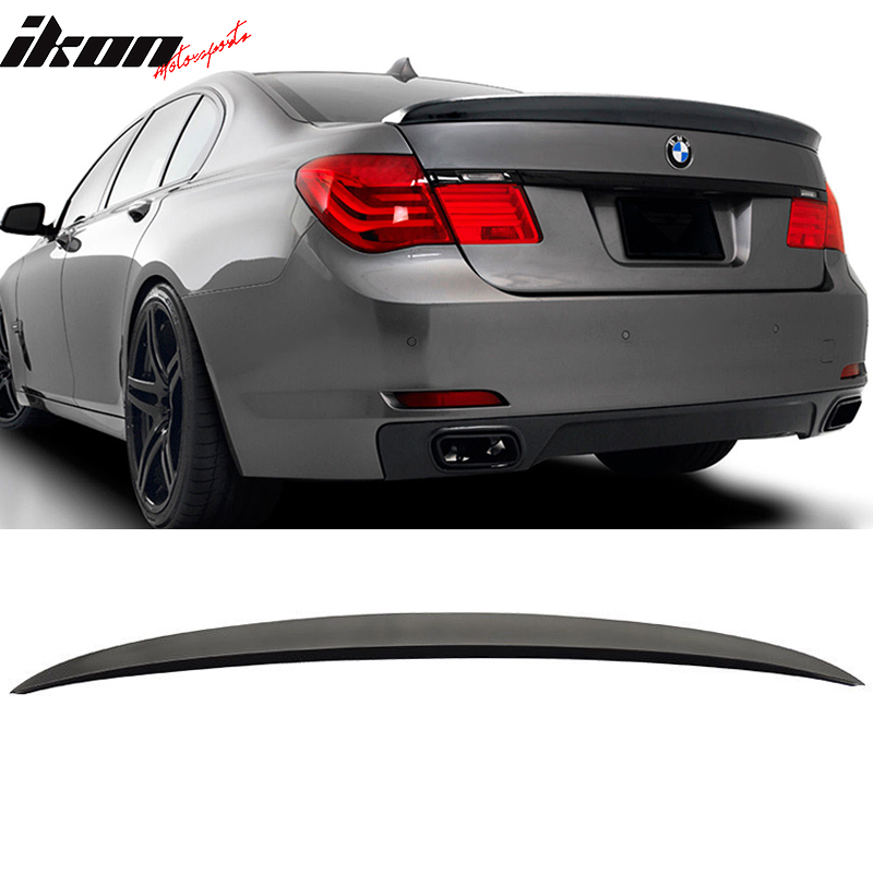 Fits 09-15 BMW F01 7 Series AC Trunk Spoiler Painted Black Sapphire #475