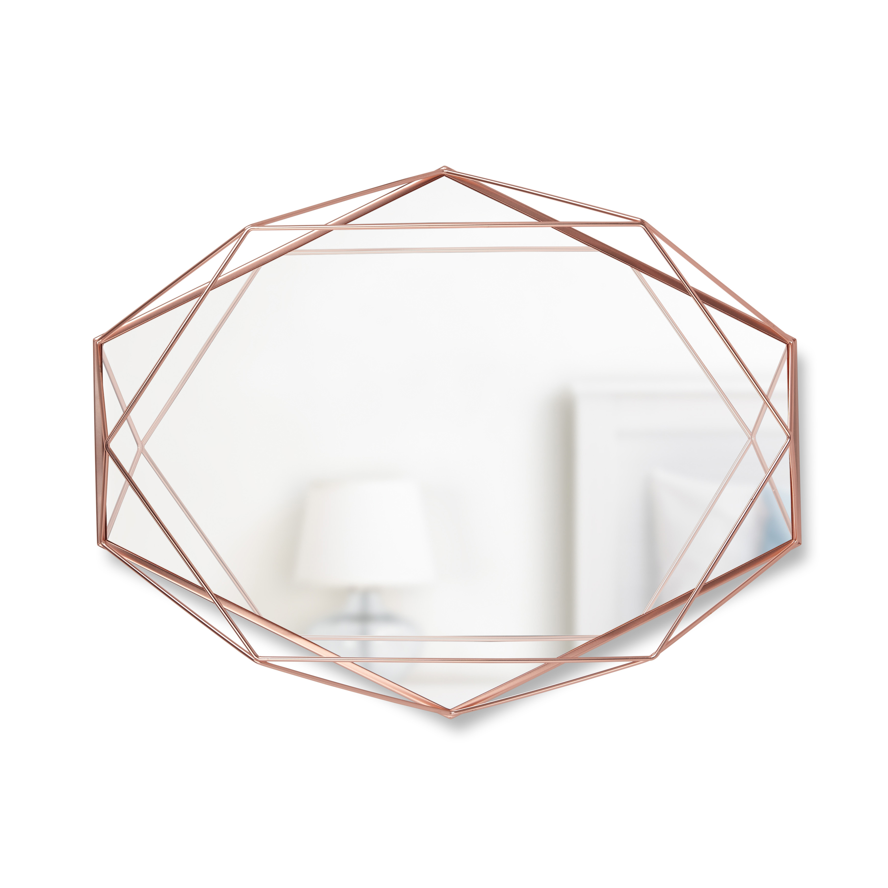 "Umbra Prisma 22x17"" Oval Shaped Wall Mirror, Copper"