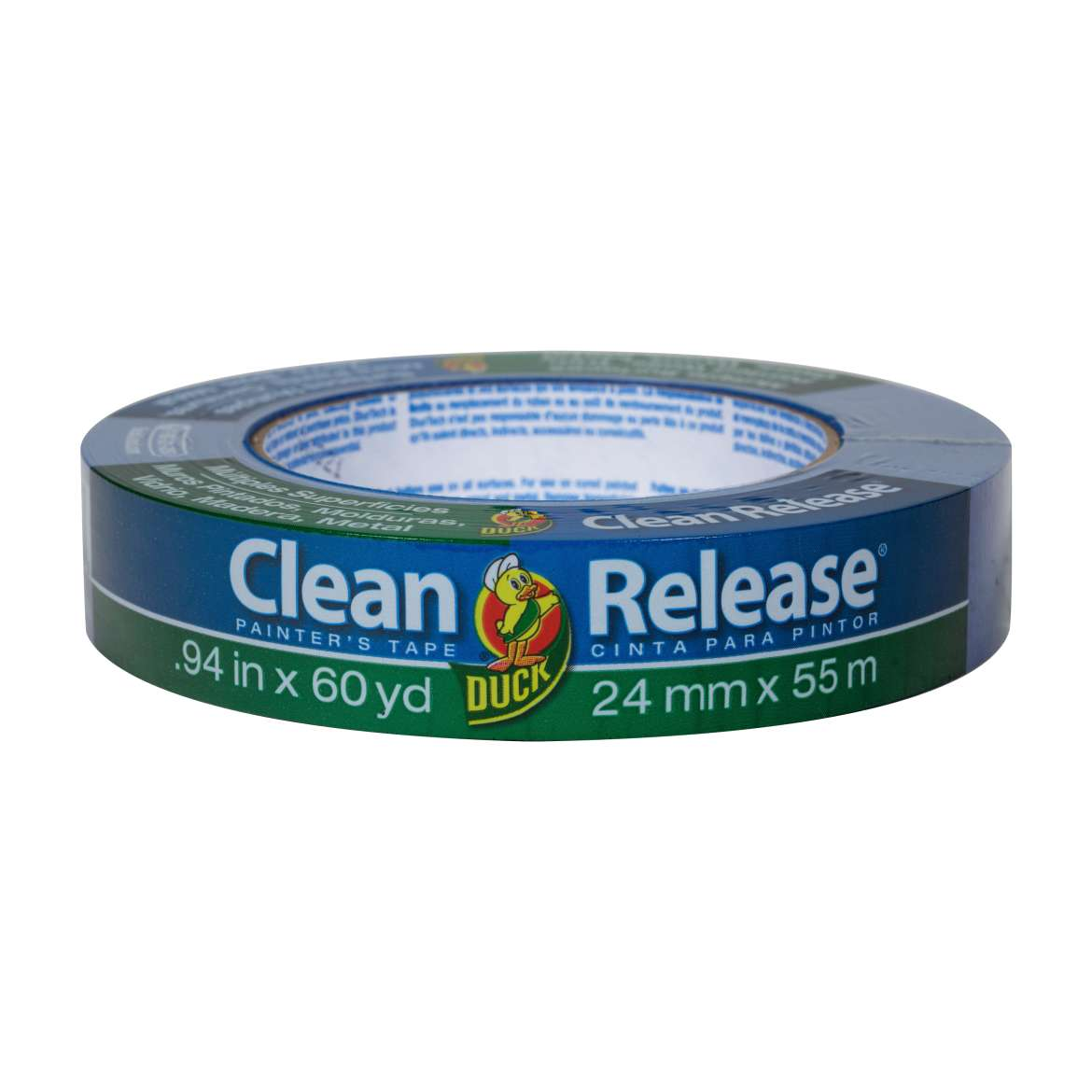 "Duck Clean Release Painter's Tape, 0.94"" x 60 yds, 3"" Core, Blue"