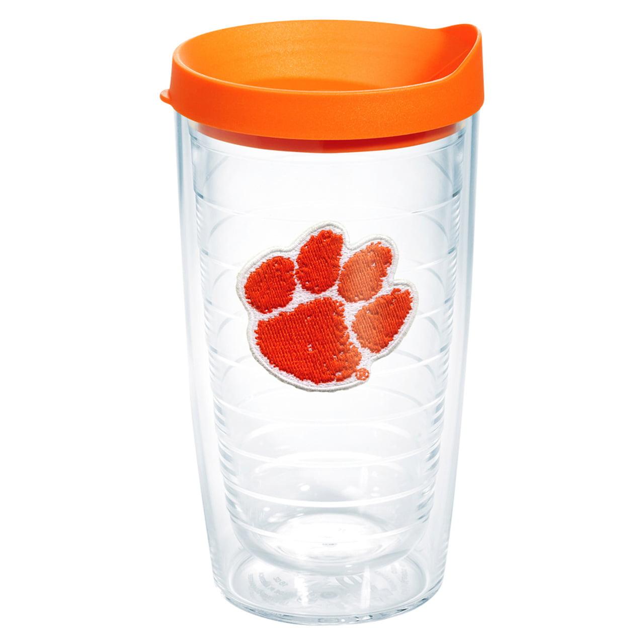 Clemson Tigers 16 oz Tumbler with Lid - Orange