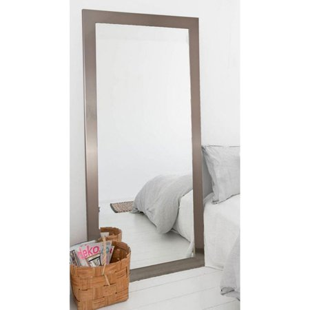 Brandtworks Designers Choice Leaning Floor Mirror Silver