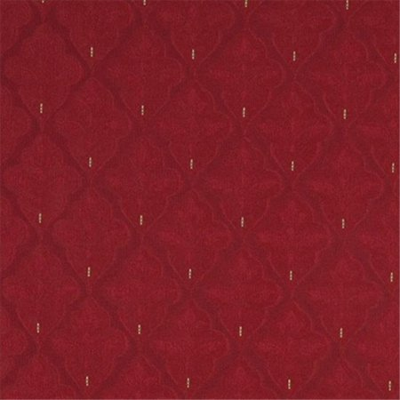 Designer Fabrics A440 54 in. Wide Red Medallion Brocade Upholstery Fabric