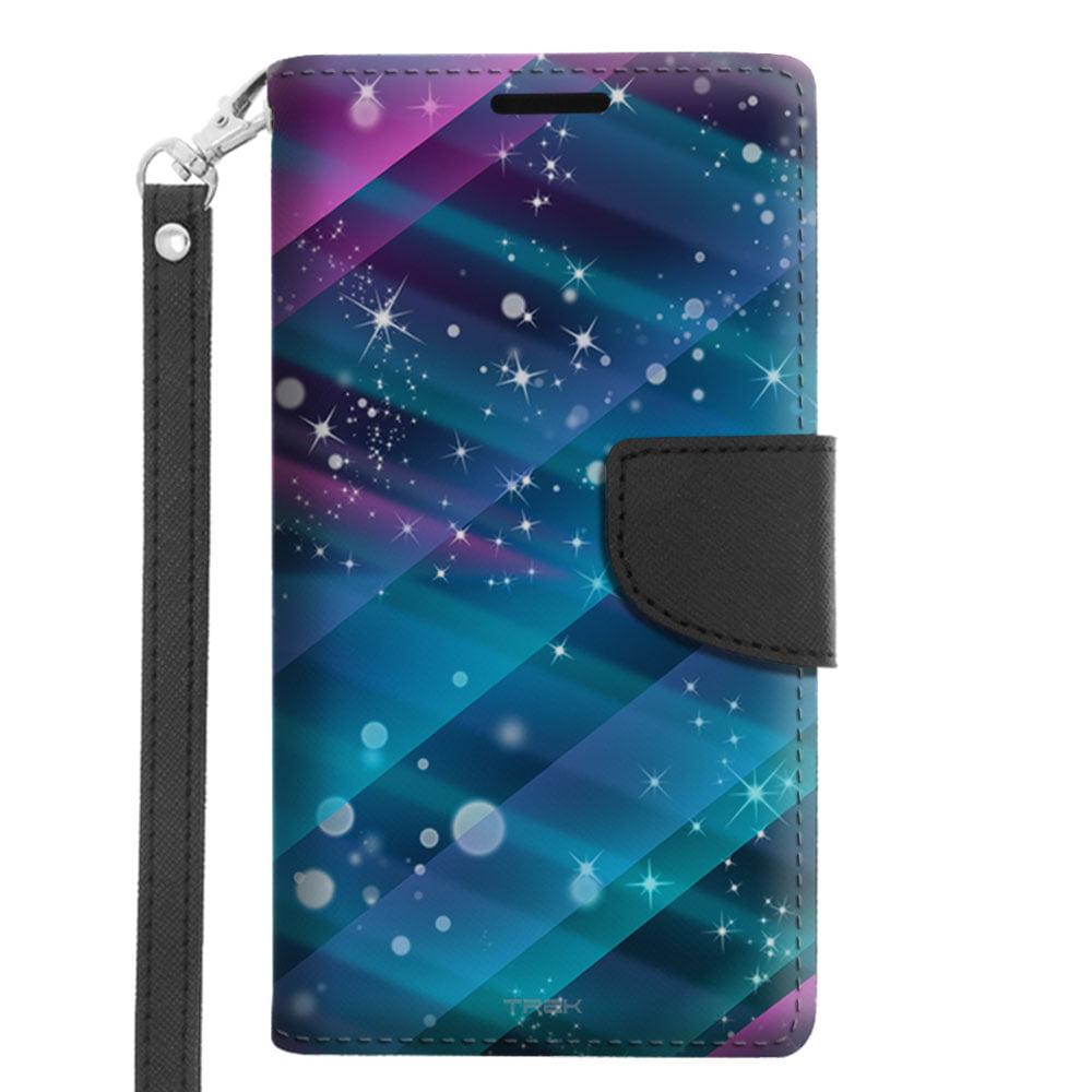 Microsoft Lumia 640 Wallet Case - Neon Disco Tech Pattern