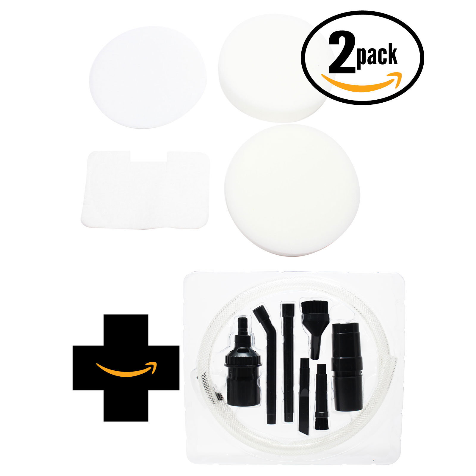 2-Pack Replacement Shark Navigator NV22L Vacuum 4-Piece Foam and Felt Replacement Filter Kit with 7-Piece Kit - Compatible Shark XF22, NV22L Foam and Felt Replacement Filter Kit - image 4 de 4