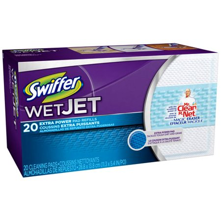 Swiffer Wet Jet Starter Kit cleans better than a mop and bucket. The pad traps dirt your mop can push around. The solution dissolves tough sticky messes.