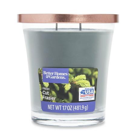Better Homes & Gardens Scented Jar Candle, Fresh Cut Frasier, 17 oz., Single