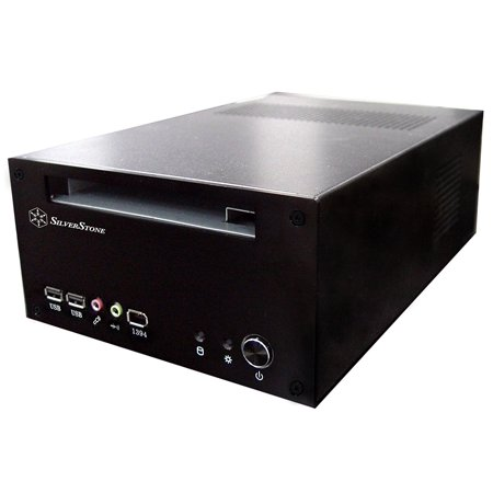 Silverstone Technology LC12B Aluminum Mini-ITX Media Center - HTPC Case -
