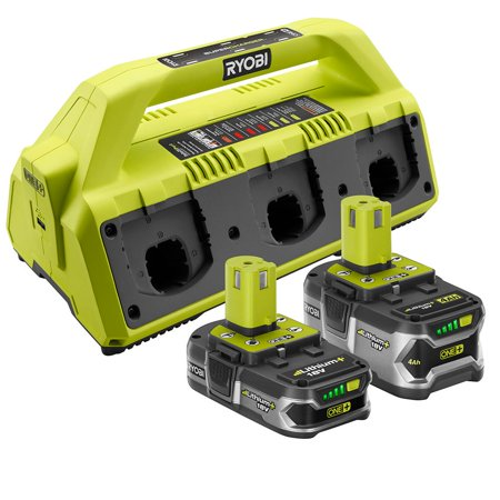 Ryobi 18 Volt One Supercharger And 2 Lithium Ion Batteries Kit P1820