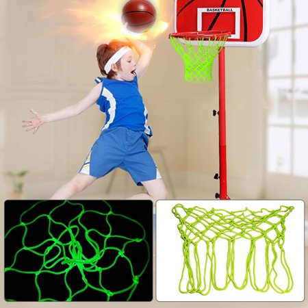 EEEkit Durable Glow in The Dark Outdoor Basketball Net Rim Hoop Heavy Duty,Portable Nylon Sports Basketball Hoop Net,Basketball Net Replacement for kids ()