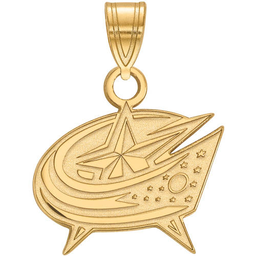 LogoArt NHL Columbus Blue Jackets 14kt Gold-Plated Sterling Silver Small Pendant