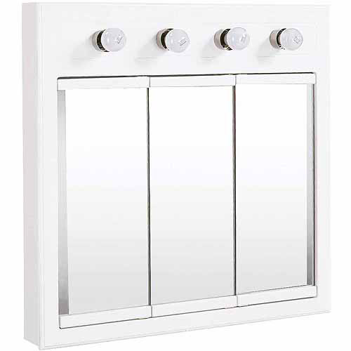Design House 532382 Concord White Gloss Lighted Medicine Cabinet Mirror by Generic