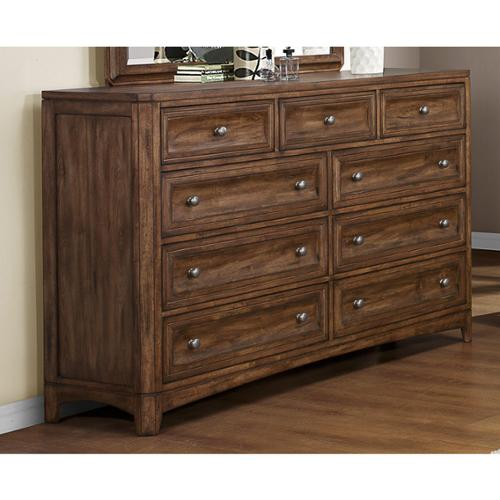 Emerald Harvest Brown 9-drawer Dresser