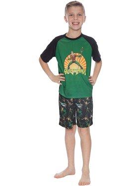 Boys' Aquaman 2 Piece Pajama Sleep Set (Little Boy & Big Boy)