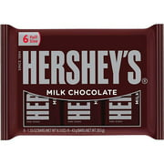 Hershey's Individually Wrapped Bars Milk Chocolate, 6 ct