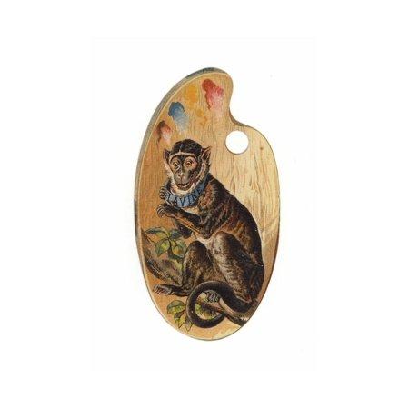 Monkey on Paint Palette Print Wall