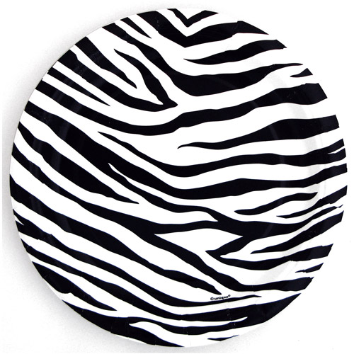 "7"" Zebra Chic Party Plates, 12ct"