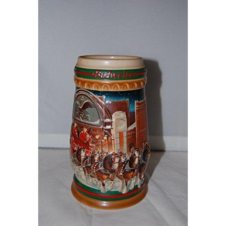 - 1997 budweiser holiday stein home for the holidays