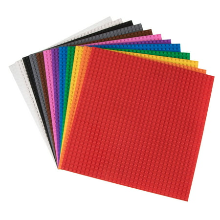 Strictly Briks Brick Construction Stackable Baseplates - 12 Baseplates Included (10