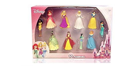Disney Princess 10 pc Figure Collection Cinderella, Sleeping Beauty, Belle, Ariel,... by Disney