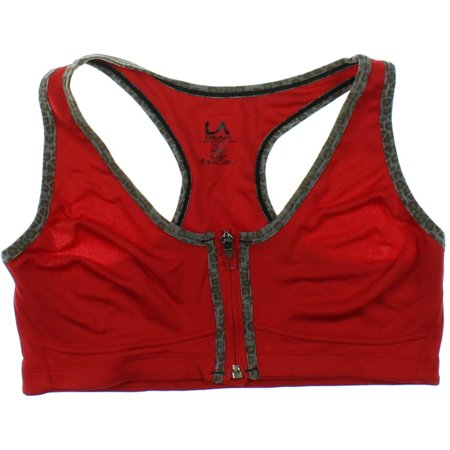 aad118698d6f7 L.A. Gear - LA Gear Womens Maximum Support Zip Front Sports Bra -  Walmart.com