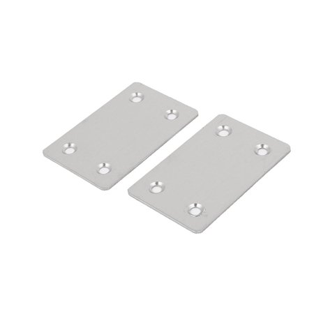 60mm x 38mm x 1mm Stainless Steel Corner Brace Flat Mending Repair Plate 5pcs - image 1 of 3