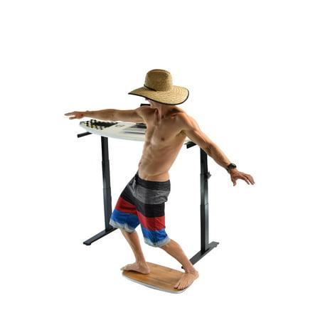 - BASE+ Balance & Stability Board. Aluminum+Bamboo Wobble Platform Trainer for Active Standing Desk, Home, Office, Rehab, Fitness. Full Range of Motion