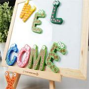 Baby toys 26pcs Letters Kids Wooden Alphabet Fridge Magnet Child Educational