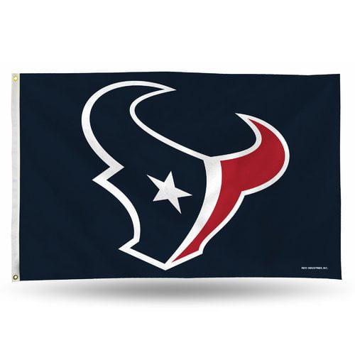 Rico Industries NFL 3' x 5' Banner Flag, Houston Texans