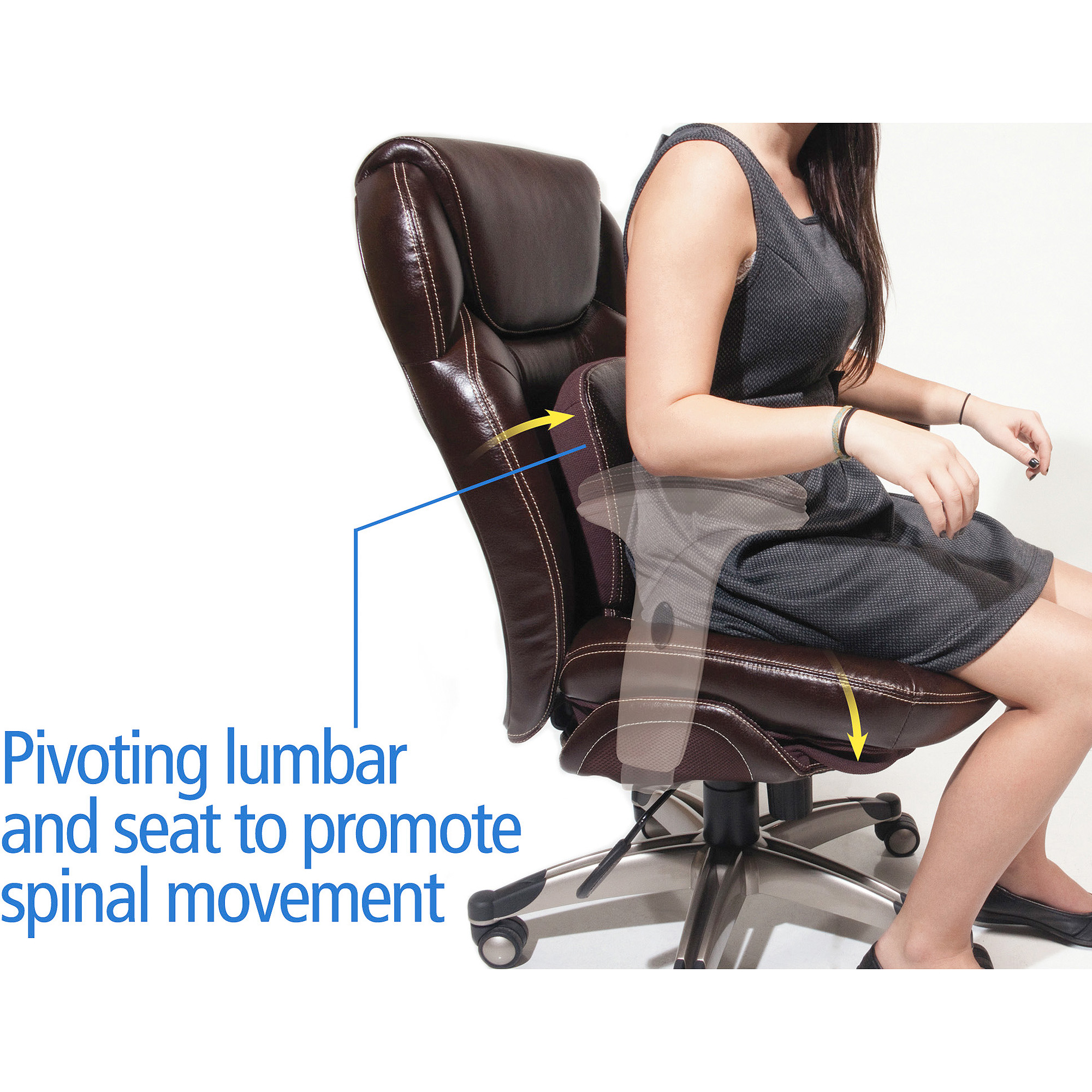 Serta Back in Motion Health and Wellness Mid Back Bonded Leather