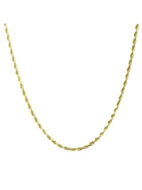 A&M Solid 14K Yellow Gold Rope Chain Necklace