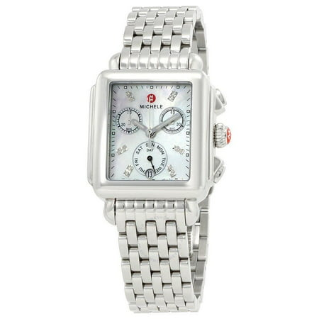 Scattered Diamond Watch - Michele Deco Day Diamond Ladies Watch MWW06P000014